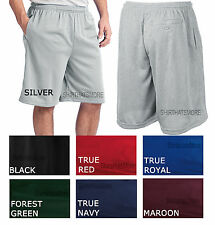 Mens Tough Mesh Gym Athletic Work Out Exercise Shorts with 3 POCKETS Sizes S-4XL