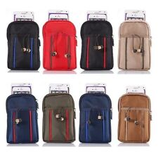 Universal Zipper Belt Bag Carrying Case pouch pocket For Various Smart Phones