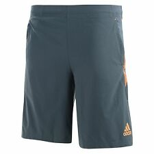 New Mens Adidas Ultimate Climalite Woven Training Shorts - Grey - Gym Sports