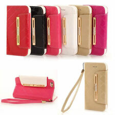Luxury Diamond Leather Flip Wallet Case Cover Stand For Apple iPhone 6/ 6S Plus