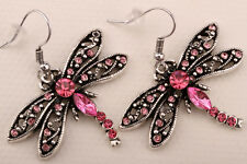 Dragonfly dangle earrings bling jewelry gifts EA11 ring brooch AVBL dropshipping