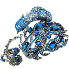 Peacock cuff bracelet slave ring bling fashion jewelry A23 W/ crystal dropship