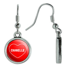 Novelty Dangling Drop Charm Earrings I Love Heart Names Female C Chan