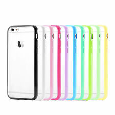 """New Silicone TPU Bumper PC Matte Clear Back Case Cover for Apple 4.7"""" iPhone 6"""