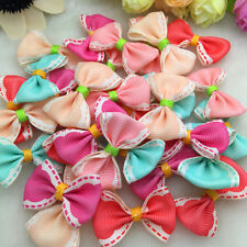 DIY 10/50/100 Pcs Satin Ribbon Organza BOW Appliques/Craft/Wedding Decoration