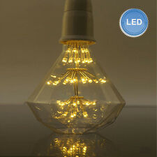 New LED 3W G95 Diamond Fireworks Edison Vintage Bulb Light E27 lamp Screw-Mount