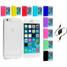 For Apple iPhone 6 Plus 5.5 Color TPU Rubber Case Cover Aux Cable