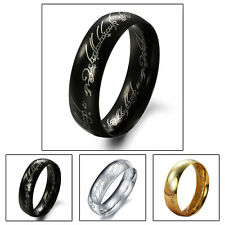 New Lord of the Rings Bilbo's Hobbit Ring LOTR Stainless Steel Rings For Men