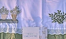 Herb Garden Valance or Curtain Tiers Ruffled Country Shabby Cottage Mervyns NEW
