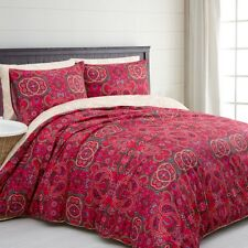 Marianne Paisley Microfibre Quilt Doona Cover Set - SINGLE DOUBLE QUEEN KING