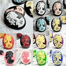 Brandnew 18x13/25x18/40x30mm Resin Cabochon flatback Oval Lolita Skull wholesale