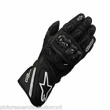"ALPINESTARS ""GP PLUS"" LEATHER MOTORCYCLE ROAD RACE GLOVE BLACK ASTAR SIZE XL"