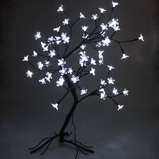 65CM 64 LED Pink and White Light Cherry Blossom Tree XMAS Indoor Decoration