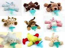 NEW WubbaNub Infant Baby Binkie Pacifier Soothie Stuffed Animal