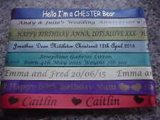 PERSONALISED RIBBON FOR CRAFTERS 15mm WIDE FOR ALL OCCASIONS