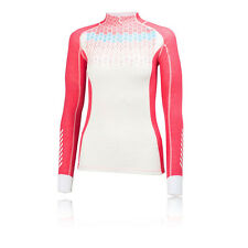 Helly Hansen HH Warm Freeze Womens White Pink Long Sleeve Half Zip Running Top