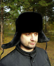 New Men's Aviator Style Winter Hat High Quality Genuine Mink Fur All Sizes