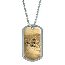 Dog Tag Pendant Necklace Chain City Country Sa-Sy