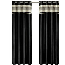 "Black (54 x 63"") Blackout Multilayer Energy Saving Grommet Milan Curtain Panel"