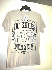 DC SHOES Mens T Shirt S SMALL GREY WITH BLACK MCMXCIV LOGO New WITH TAGS