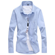 New Mens Stylish Luxury Long Sleeve Slim Fit Business Formal Dress Casual Shirts
