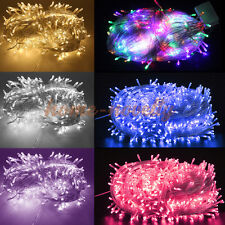 30M/50M/100M LED Fairy String Lights Outside Christmas Party Xmas Outdoor+8 Mode