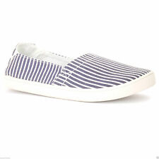 City Sneaks Women's Shoes Slip on Canvas No Laces Elasticated Heel Rubber Sole