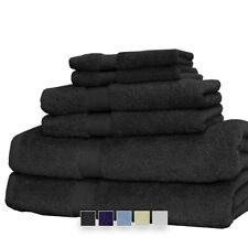 (6-Pieces) 100% Cotton, Machine-Washable Combed Towel Set