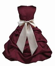 HOLIDAY FLOWER GIRL DRESS SIZES 2 2T 3 3T 4 4T 5 5T 6 6X 7 8 9 10 11 12 13 14 16