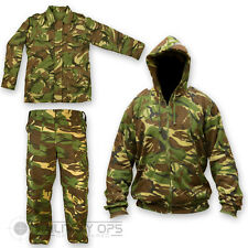 KIDS CHILDRENS DPM CAMO SET SHIRT JACKET TROUSERS HOODIE SOLDIER 95 BRITISH ARMY