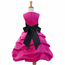 FUCHSIA PINK PAGEANT BIRTHDAY RECITAL WEDDING FORMAL EASTER HOLIDAY CHRISTMAS