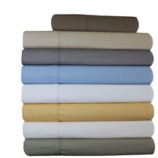 Wrinkle Free 650 Solid Cotton Twin-XL Sheets Collection