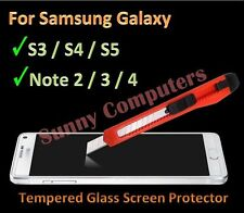 Tempered Glass Screen Protector for Samsung Galaxy Note 4 3 2 i9500 i9300 G900
