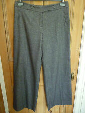 LADIES M&S MONSOON WOOL SILK BLEND SIZE 12 FULLY LINED TROUSERS
