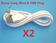 2X USB Type-A Male to Mini-B 5 Pin Cable Extra Long Plug V3 Lead For MP3 MP4 MP5