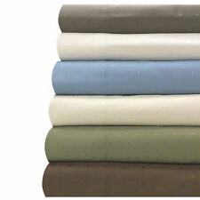 Full Cotton-Blend Wrinkle-Free Woven Dots Sheets, 4PC 600 Thread Count Sheet Set