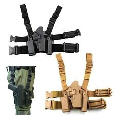 Tactical Right Drop Leg Thigh Holster Magazine Torch Pouch for Glock 17 19 22 23
