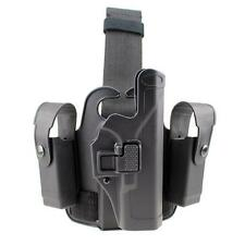 Tactical Level 2 Right Drop Leg Thigh Pistol Holster Mag Pouch f/ Glock 17 19 22