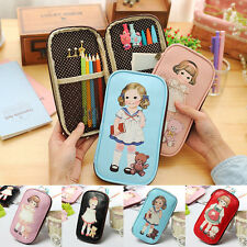 Multi-Use Zipper Pen bag Cute Doll Makeup Pencil Case Cosmetic Bag Stationery