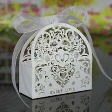 20Pcs Creative Hollow Out Pattern Sweet Candy Paper Boxes Bag Wedding Gift Favor