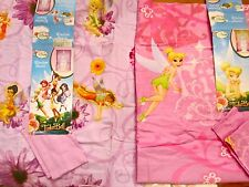 Disney Tinkerbell Curtain Panels: Floral Whimsy Fairies NEW Pair