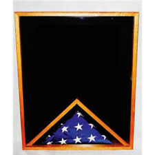 Military Memorial Flag Medal And Certificate Display Case Hand Made By Veterans
