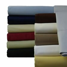 Full-Size Egyptian Cotton sheets 300 Thread count Solid Collection