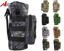 Tactical Camo Molle Zipper Water Bottle Pouch Bag Holder Military Outdoor Hiking