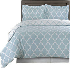 Blue/White 100% Cotton Meridian Duvet Covers Set