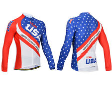 USA Style Men Outdoor Sports Bike Cycling Bicycle Long Sleeve Jersey/Pants M-XXL