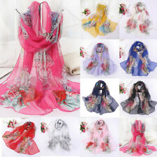 Accessories Womens Fashion Lady Long Soft Chiffon Scarf Wrap Shawl Stole Scarves