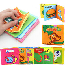 Kids Baby Educational Toy Intelligence Development Cloth Cognize Book