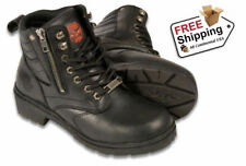Milwaukee Leather Women's Motorcycle Boots with side zipper MBL9320