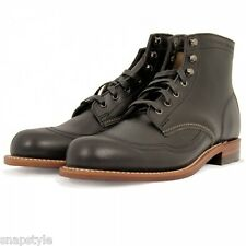 New Men's WOLVERINE 1000 Mile Addison W05344 - Black Wingtip Original Boots USA